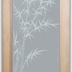 "Bathroom Doors - Interior Glass Doors Frosted - Bamboo Forest - CUSTOMIZE YOUR INTERIOR GLASS DOOR!  Interior glass doors or glass door inserts.  .Block the view, but brighten the look with a beautiful interior glass door featuring a custom frosted privacy glass design by Sans Soucie! Suitable for bathroom or bedroom doors, there are no clear areas on this glass.  All surface areas are etched/frosted to be 100% opaque.  Note that anything pressed up against the glass is visible, and shapes and shadows can be seen within approx. 5-12"" of the glass.  Anything 5-12"" from the glass surface will become obscured.  Beyond that distance, only lights and shadows will be discernible. Doors ship for just $99 to most states, $159 to some East coast regions, custom packed and fully insured with a 1-4 day transit time.  Available any size, as interior door glass insert only or pre-installed in an interior door frame, with 8 wood types available.  ETA will vary 3-8 weeks depending on glass & door type........  Select from dozens of sandblast etched obscure glass designs!  Sans Soucie creates their interior glass door designs thru sandblasting the glass in different ways which create not only different levels of privacy, but different levels in price.  Bathroom doors, laundry room doors and glass pantry doors with frosted glass designs by Sans Soucie become the conversation piece of any room.   Choose from the highest quality and largest selection of frosted decorative glass interior doors available anywhere!   The ""same design, done different"" - with no limit to design, there's something for every decor, regardless of style.  Inside our fun, easy to use online Glass and Door Designer at sanssoucie.com, you'll get instant pricing on everything as YOU customize your door and the glass, just the way YOU want it, to compliment and coordinate with your decor.   When you're all finished designing, you can place your order right there online!  Glass and doors ship worldwide, custom packed in-house, fully insured via UPS Freight.   Glass is sandblast frosted or etched and bathroom door designs are available in 3 effects:   Solid frost, 2D surface etched or 3D carved. Visit our site to learn more!"