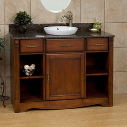 "48"" Carrow Vanity for Semi-Recessed Sink - Reinvent the look of your bath with this beautifully crafted vanity cabinet. The delicate detailing combined with the attractive finish of the 48"" Carrow Vanity for Semi-Recessed Sink will make this a stunning addition to your bathroom."