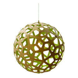 "David Trubridge - David Trubridge Coral Kitset Pendant 23 1/2"", Lime - Vanillawood is an official dealer of David Trubridge signature lighting."