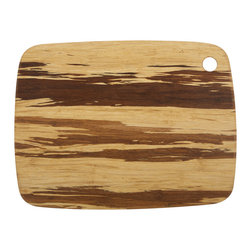 Large Crushed Bamboo Cutting Board - The unique style of the Large Crushed Bamboo Cutting Board is sure to become your new favorite. Perfect for preparing your favorite fruits, vegetables and meats or serving cheeses and hor d'oeuvres, this bamboo cutting board is perfect for home cooks and professional chefs alike.