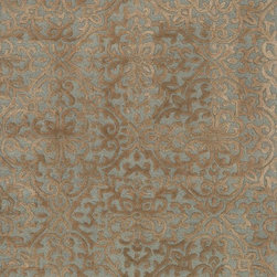 """Loloi Rugs - Loloi Rugs Alexi Collection - Mist / Camel, 2'-6"""" x 7'-6"""" - The Alexi Collection from India has the perfect mix of textural detail, beautiful coloration, and soft 100% wool fiber. Featuring truly transitional patterns, Alexi can blend seamlessly with a range of interiors. And thanks to its hooked and hand tufted construction, each piece offers high low dimension."""