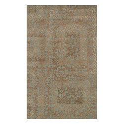 "Loloi Rugs - Loloi Rugs Alexi Collection - Mist / Camel, 2'-6"" x 7'-6"" - The Alexi Collection from India has the perfect mix of textural detail, beautiful coloration, and soft 100% wool fiber. Featuring truly transitional patterns, Alexi can blend seamlessly with a range of interiors. And thanks to its hooked and hand tufted construction, each piece offers high low dimension."