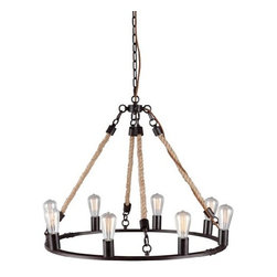 Zuo Lighting - Zuo Galena Ceiling Lamp, Twine - Our Galena Twine Ceiling Lamp makes simple look trendy with its unit shade. This interesting piece hangs from a wire. Add this striking piece to the kitchen, dinette, foyer or dining room for a warm ambiance.