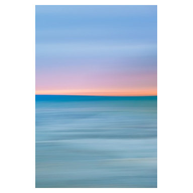 """Richmond Beach Sunset Colors, Limited Edition, Photograph - An abstract sunset photograph printed on canvas shows off the colors of a beautiful night on Richmond Beach in Edmonds, WA. Image is 16x24 with a 1"""" white border, matted to 24x32 and ready for framing."""
