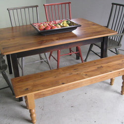 Reclaimed Wood Table, Bench and Chairs -