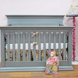 Legendary Flat Top Panel Back Stationary Crib in Vintage Grey - •This Solid Back Panel Crib is a classic design that will never go out of style.