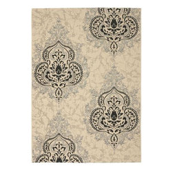 "Safavieh - Safavieh Courtyard CY7926-16A22 6'7"" x 9'6"" Creme, Black Rug - Safavieh's Courtyard collection was created for today's indoor/outdoor lifestyle. These beautiful but practical rugs take outdoor decorating to the next level with new designs in fashion-forward colors and patterns from classic to contemporary. Made in Turkey with enhanced polypropylene for extra durability, Courtyard rugs are pre-coordinated to work together in related spaces inside or outside the home."