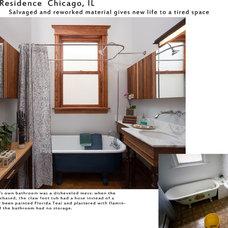 Industrial Bathroom by roomTEN design
