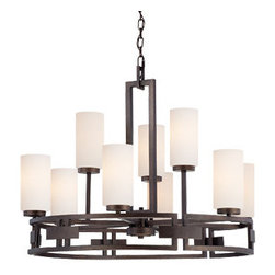 Designer Fountain - Del Ray 9 Light Chandelier - 9 Light Chandelier