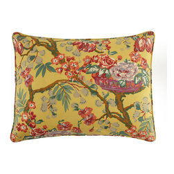 Pine Cone Hill Standard Spring Basket Floral Sham - Floral prints are making their way all over the decorating scene. Make sure to grab yourself the perfect pillow to quickly join in on 2014's hottest trend. This one has a vintage look to it and would be ideal on your patio or in your sunroom.