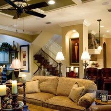 Traditional Family Room by PSG Construction