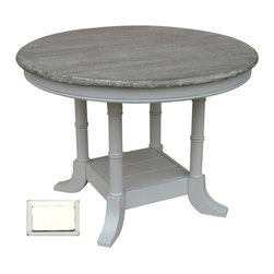 Tradewinds - Island Breakfast Table, White - Having breakfast was never so fun, with Island Breakfast table at your home happiness is sure to spread around along with quality family time. This table can be used for many purposes viz., it can be also used as a center table with a flower vase on it or a little bowl with a silver fish inside it. Made from plantation grown and kiln-dried mahogany and mindi as well as premium hardwood veneers, this table is one durable product that lasts lifelong. Discuss business with your boss over a cup of tea when he pays a visit in style.