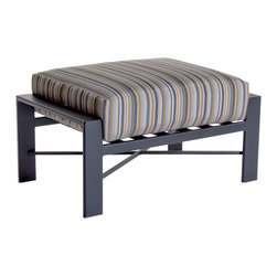 OW Lee Gios Contemporary Outdoor Ottoman - Gios Ottoman with many different fabric and finish options.
