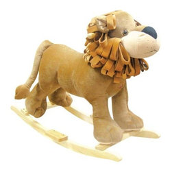 Fifthroom - Plush Linus Lion Rocker - Linus will quickly become the king of your child's bedroom. This rocking lion has a soft, firmly stuffed body. Push the button on his chest to hear him roar!