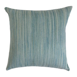"""The Pillow Collection - Orocue Solid Pillow Sky Blue 18"""" x 18"""" - Create a polished and clean finish to your interiors by adding this throw pillow to your collection. This square pillow comes with a sleek look and comes with a refreshing sky blue hue. Dress up your couch, seat or bed with this fancy home accessory. Build dimension and texture by pairing this decor pillow with solids and patterns. This 100% cotton made pillow is suitable for indoor use. Hidden zipper closure for easy cover removal.  Knife edge finish on all four sides.  Reversible pillow with the same fabric on the back side.  Spot cleaning suggested."""