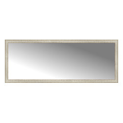 """Posters 2 Prints, LLC - 71"""" x 27"""" Libretto Antique Silver Custom Framed Mirror - 71"""" x 27"""" Custom Framed Mirror made by Posters 2 Prints. Standard glass with unrivaled selection of crafted mirror frames.  Protected with category II safety backing to keep glass fragments together should the mirror be accidentally broken.  Safe arrival guaranteed.  Made in the United States of America"""