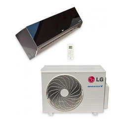 LG - LA180HSV2 Art Cool Series 18 200 BTU/h Cooling and 22 000 BTU/h Heating Capacity - The LG LA180HSV2 Wall Mounted Art Cool Mirror Finish Mini Split Heat Pump System will provide you with 18200 BTU of capacity for hot summer days and cold winter nights LG maximized the efficiency and economics of duct-free technology used in mini spl...