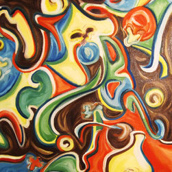 Abstract Art - Curves - Abstract Oil Painting - 20X30