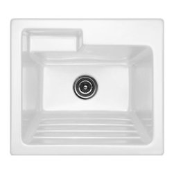 CorStone - CorStone 12100 White Westerly Westerly Self Rimming 25x22 Laundry Sink - Westerly Self Rimming 25x22 Laundry Sink with WashboardCorStone  Westerly self-rim laundry sink with built-in washboard is from the Advantage 3.2 Series-. The Westerly is the ideal sink for todayÂ's laundry room with an extra deep bowl, built-in washboard and offset shelf for easy access to cleaning supplies. The Westerly is made from 3.2 ForgeCast- Acrylic that is thick and durable providing high impact resistance that prevents marking and chipping. Permanent high gloss finish, that will not discolor or rust. NAHB and CSA certified. Overall sink dimensions: 25 IN. x 22 IN. x 12 IN., Inside Bowl Dimensions: 21 IN. x 16 IN. x 12 IN.Lightweight and easy to installEasy care with soap and water100% stain resistant, will not discolor or rust
