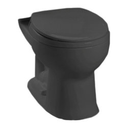 Toto - Toto C743E#51 Ebony Drake E-Max Round Toilet Bowl Only - The Drake series gives a simple, sleek style to any bath with it's variety of options and finishes.