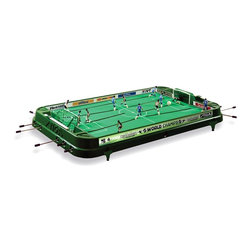Stiga - Stiga 37 in. Table Soccer Table Top Game Multicolor - 71-1255-05 - Shop for Table Tennis and Foosball from Hayneedle.com! Score winning family entertainment with the Stiga 37 in. Table Soccer Table Top Game a cool colorful home game table that combines the best of classic foosball tables with the latest in steering rod and overall game design. Right- and left-hand controls let users make the most of their teams and detailed hand-painting adds true sportsman's character.This arena-styled table game is crafted with durable polystyrene. The three-dimensional players - two with right-hand controls and three with left-hand controls on each side - are interchangeable and brightly hand-painted to stand out against the vivid green field. Solidly netted goals safely catch the in-play ball which along with the game's steering rods boast the best of modern design for a superior tactile experience. The table legs raise the game to a comfortable playing height on the floor or on game room tables.About Stiga GamesStiga Games has been bringing table game enthusiasts the best in the business since 1957. More than 5 million games have been sold since the first Stiga table hockey game hit the market including table tennis snow game badminton and floor ball products. Today Stiga Games sells to more than 30 countries worldwide keeping the tradition of home-based non-computer games alive and well. Stiga table hockey games are the only officially licensed table hockey games of the NHL and every part of every table is replaceable meaning these games can be enjoyed for years to come.