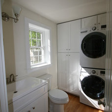 Transitional Laundry Room by Lowe's of Seabrook, NH