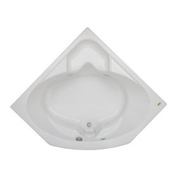 Jacuzzi - Jacuzzi-CAP5555 BCX XXX W Capella Acrylic 55-Inch x 55-Inch x 20-1/4-Inch Corner - Jacuzzi-CAP5555 BCX XXX W Capella® Acrylic 55-Inch x 55-Inch x 20-1/4-Inch Corner Comfort Soaking Bath with Center Drain in WhiteThe Jacuzzi® Capella® tub from its Comfort collection is unique both inside and out. The distinctive corner configuration helps make it as much an aesthetic pleasure as it is a soothing sensation. And with the molded seat that's set on the edge of the tub, a rejuvenating foot massage is just a touch of a button away. It's equipped with sculpted armrests, a contoured backrest, and allows for a half-in, half-out tub experience-another reason why Jacuzzi's Capella® comfort tub is so unique.A traditional bathing experience is the foundation of hydrotherapy and is as simple as being enveloped in warm water. Jacuzzi's classic Italian designs provide the perfect vessel for this treatment. Jacuzzi's soaking tubs will enhance your bathroom and more importantly improve your quality of life. The traditional Soaking bath is a non jetted, non Pure Air® tub.Jacuzzi-CAP5555 BCX XXX W Capella® Acrylic 55-Inch x 55-Inch x 20-1/4-Inch Corner Comfort Soaking Bath with Center Drain in White, Features:• 55-Inch x 55-Inch x 20-1/4-Inch