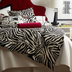 Legacy Home Funky Zebra Bedding - Touches of pink, yellow, and blue make these bed linens all the more captivating.