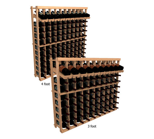 "Wine Cellar Innovations - Winemaker Series Individual Bottle Kit - 10 Columns with Display Row - Each wine bottle stored on this ten column individual bottle wine rack is individually cradled with a built in display row to show off your wine labels. These wine racks must be mounted 1 1/2"" off the wall to ensure proper wine bottle stability. Assembly Required."