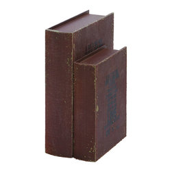 Benzara - Motivational Love Book Box Set In Old Look Wood - A wonderful piece of decor to keep all your little secret treasures hidden, for only you to find them. The cover features an inspirational message of love that you and your guests can all enjoy. This book box set is perfectly made to be placed on the coffee table or fireplace mantle, but also useful to keep little secret items in the bedroom.