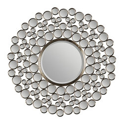Ren-Wil - Ren-Wil Multi-Circle Wall Mirror - 42 diam.in. Multicolor - MT849 - Shop for Mirrors from Hayneedle.com! There's nothing spotty about the way the stylish and modern Ren-Wil Multi-Circle Wall Mirror - 42 diam.in. looks on your wall. The circular mirror has a generous beveled edge. Radiating round accent mirrors and a stunning satin nickel finish metal frame make this a gorgeous addition to your home.