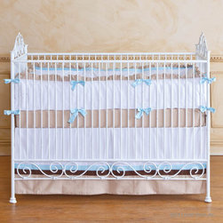 Bratt Decor Casablanca Iron Crib in Distressed White - Casablanca Crib in Distressed White by Bratt Decor