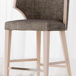 Cliff Young, Ltd Classic Collection Barstool - I love all the bar stools from this designer. They're classic and timeless while being modern at the same time. Each one has a different period feel - this one reminds me of vintage tweed suit.