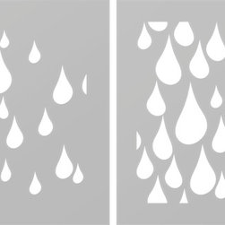 Just A Trace LLC - Just A Trace Rain Drops 2-Layer Pattern Stencil, Large - A 2-layer raindrop stencil! Make a statement: repeat this design on your walls, floor, ceiling and furniture.