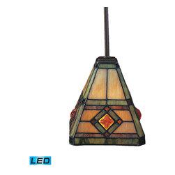 ELK Lighting - ELK Lighting 684-CB-LED Corona Classic Bronze Mini Pendant - ELK Lighting 684-CB-LED Corona Classic Bronze Mini Pendant