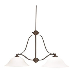 "Kichler - Kichler 3882OZ Langford Single-Tier Linear Chandelier w/1 Lights - Stem - 40"" - Kichler 3882 Langford Island Chandelier"