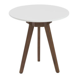 Eurostyle - Eurostyle Triage Side Table, White/Dark Walnut - Eurostyle - End Tables - 90198WHT - Where do you put all the things that give a room its personality. Books. Flowers. That tiffany egg. The elgin marbles. You arrange a lovely nest of these triage side tables and the things that �make� your room all have wonderful homes.