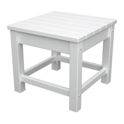 Polywood - Eco-friendly Side Table in White - Enhance the livability factor in your outdoor sitting area with the stylish and functional Polywood Club Side Table. This lovely side table is the perfect accent piece beside any of the Club seating options. Built to last and look like new for years to come. Live more and worry less with this eco-friendly table. It resistant to stains, corrosive substances, insects, fungi, salt spray and other environmental stresses.