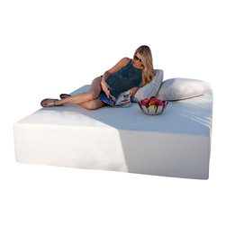 Home Infatuation - Play Pad Outdoor Daybed, 7' Square - For sunbathing, lounging or entertaining the simplistic, modern design of the patented Play Pad daybed is a perfect fit for patio, poolside or deck.