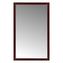 """Posters 2 Prints, LLC - 41"""" x 66"""" Ansley Mahogany Custom Framed Mirror - 41"""" x 66"""" Custom Framed Mirror made by Posters 2 Prints. Standard glass with unrivaled selection of crafted mirror frames.  Protected with category II safety backing to keep glass fragments together should the mirror be accidentally broken.  Safe arrival guaranteed.  Made in the United States of America"""