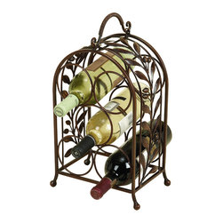 ecWorld - Olive Leaves Wrought Iron Wine Holder Rack - Dress up your home and your wine collection at the same time. This exquisite piece of metal art is functional and allows you to display your favorite wine in style. They make a great house warming gift for that special friend or neighbor - or simply a wonderful classic, yet stylish, addition for your own home!