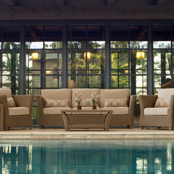 Alyssa Collection by Parker James - The Alyssa Collection by Parker James is made with all-weather, hand woven wicker and features a aluminum frame.