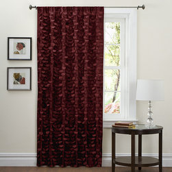 Lush Decor - Lush Decor Red 84-inch Lilian Curtain Panel - Decorate your home with this gorgeous window panel with faux silk construction. Rod pocket slides onto curtain rod for easy installation.