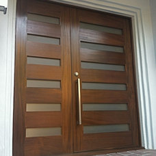 Modern Front Doors by Tungsten Royce Custom Wood Products