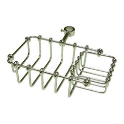 Kingston Brass - 7in. Riser Mount Soap Basket - Kingston Brass' bathroom accessories are built for long-lasting durability and reliability. They are designed so you can easily coordinate matching pieces. Each piece is part of a collection that includes everything you need to complete your bathroom decor.