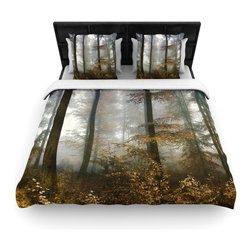 """Kess InHouse - Iris Lehnhardt """"Forest Mystics"""" Brown Gray Fleece Duvet Cover (Twin, 68"""" x 88"""") - You can curate your bedroom and turn your down comforter, UP! You're about to dream and WAKE in color with this uber stylish focal point of your bedroom with this duvet cover! Crafted at the click of your mouse, this duvet cover is not only personal and inspiring but super soft. Created out of microfiber material that is delectable, our duvets are ultra comfortable and beyond soft. Get up on the right side of the bed, or the left, this duvet cover will look good from every angle."""