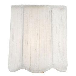 Currey & Company - Currey & Company Ivory Silk Scalloped Shade CC-0433 - Currey & Company Ivory Silk Scalloped Shade CC-0433