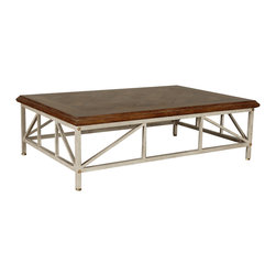 """GILANI - Ramses Coffee Table Base - Ramses Coffee Table Base (Rect). Style no: CT96750. 60""""w x 40""""d x 18""""h. Ramses Coffee Table Base (Sq). Style no: CT96770. 42""""w x 42""""d x 18""""h. Material: Metal. Finish: As specified. Top Options: Glass, stone, wood. Custom sizing available. Designed by Shah Gilani, ASFD."""