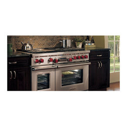 """Wolf 48"""" Pro-style Dual-fuel Range, Classic Stainless 