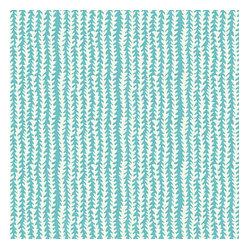 Turquoise Vine Stripe Indoor Outdoor Fabric Lemon Lime
